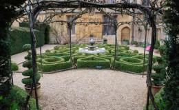 Topiary knot garden
